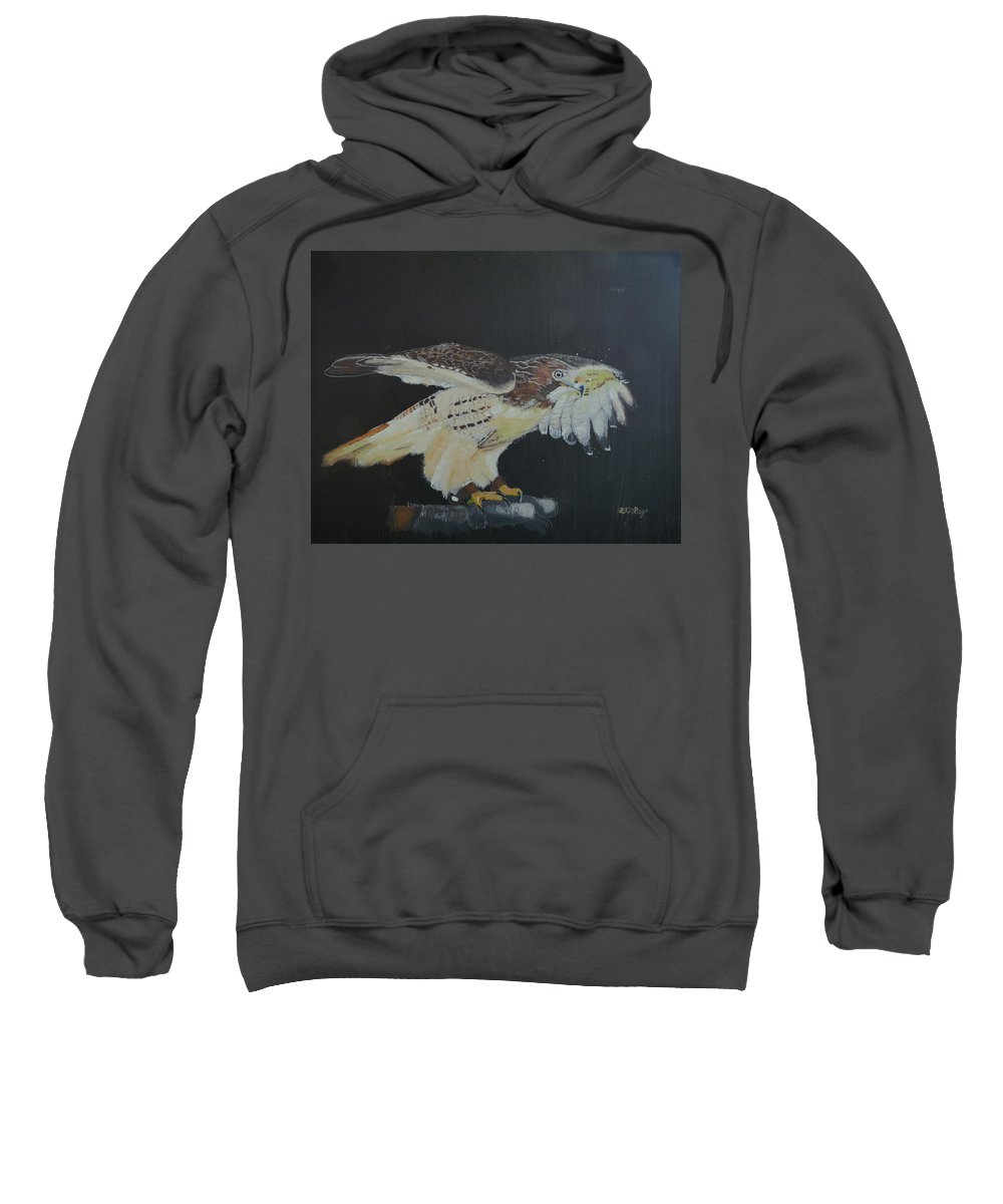 Falcon Sweatshirt featuring the painting Falconry 5 by Richard Le Page