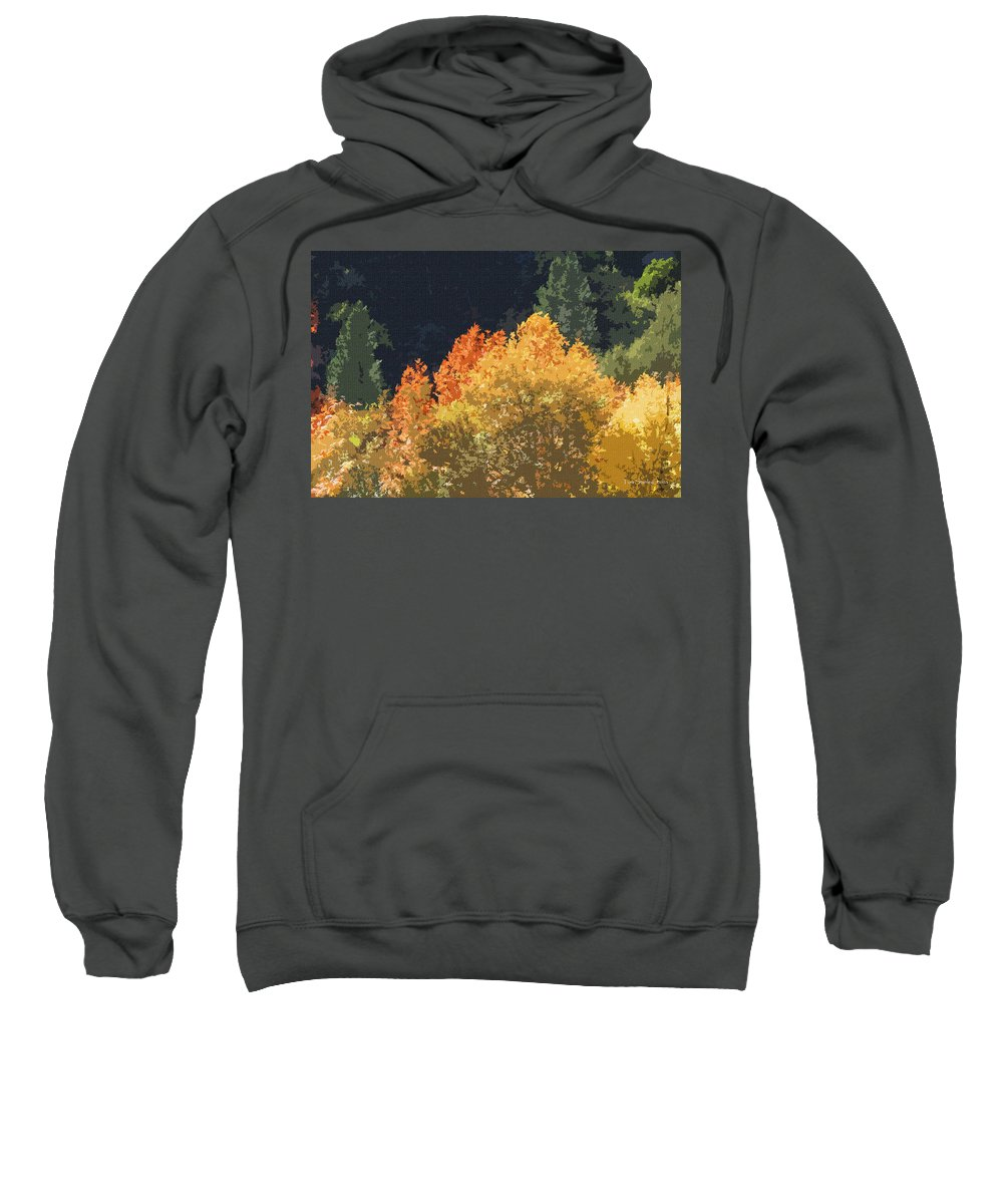 Fall Leave On The East Verde River Sweatshirt featuring the photograph Fall Leave On The East Verde River by Tom Janca