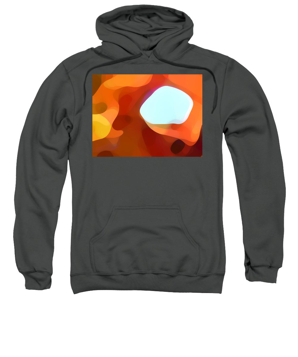 Abstract Sweatshirt featuring the painting Fall Passage by Amy Vangsgard