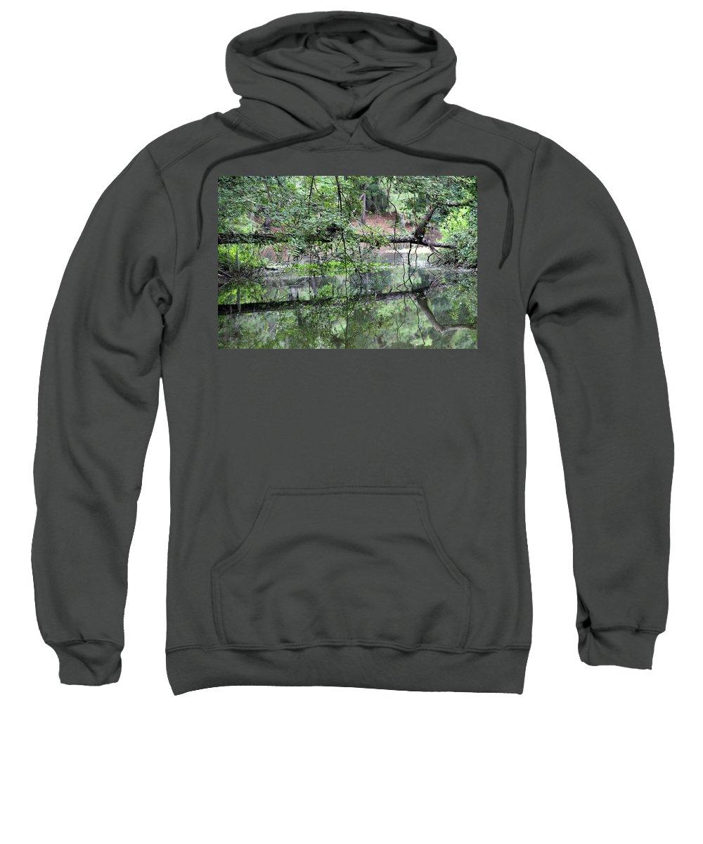 Tree Sweatshirt featuring the photograph Fallen Tree Reflection by Kay Mathews