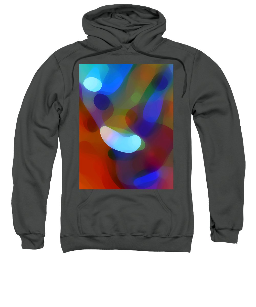 Sweatshirt featuring the painting Falling Light by Amy Vangsgard