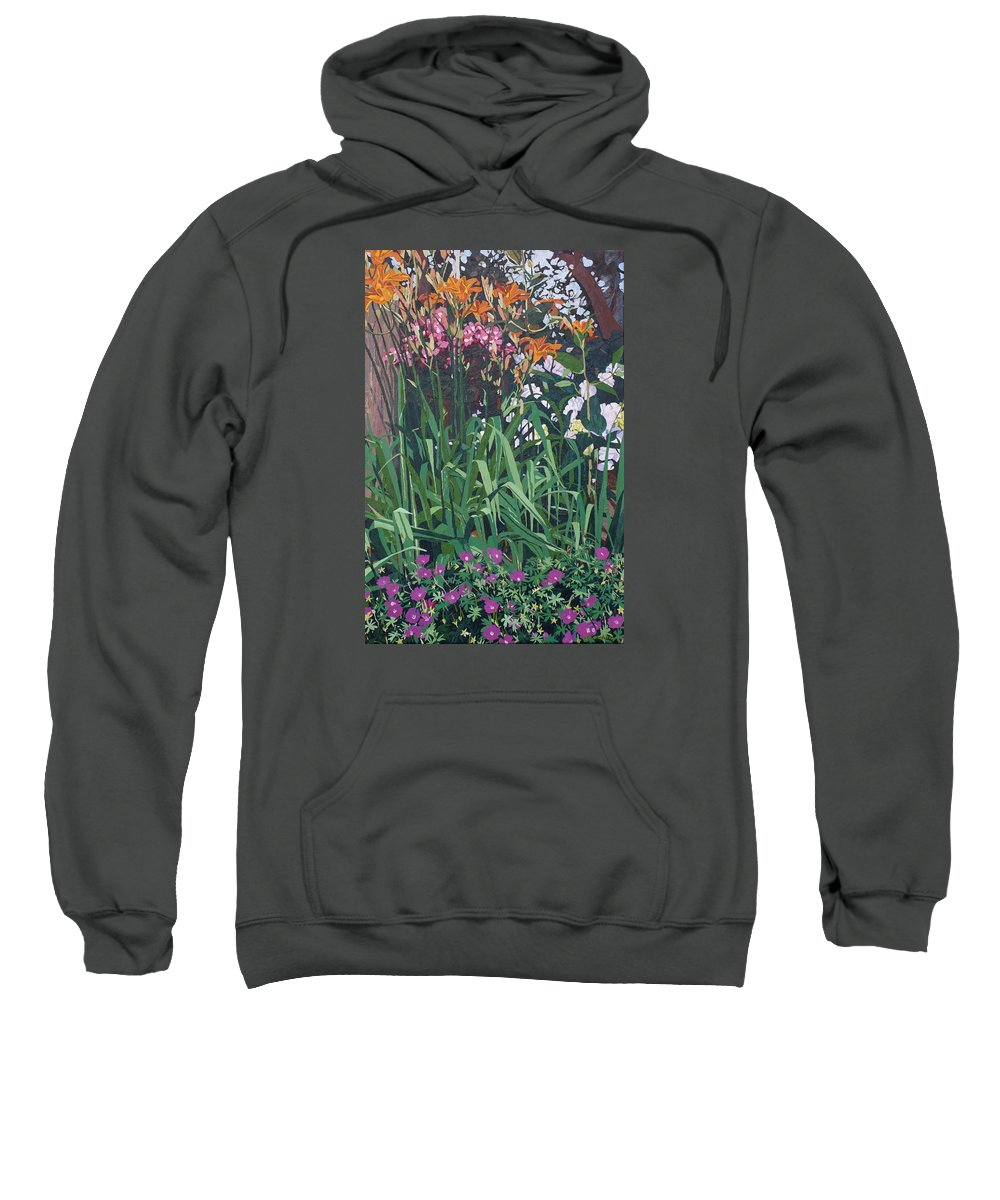 Floral Sweatshirt featuring the painting Family Portrait by Leah Tomaino