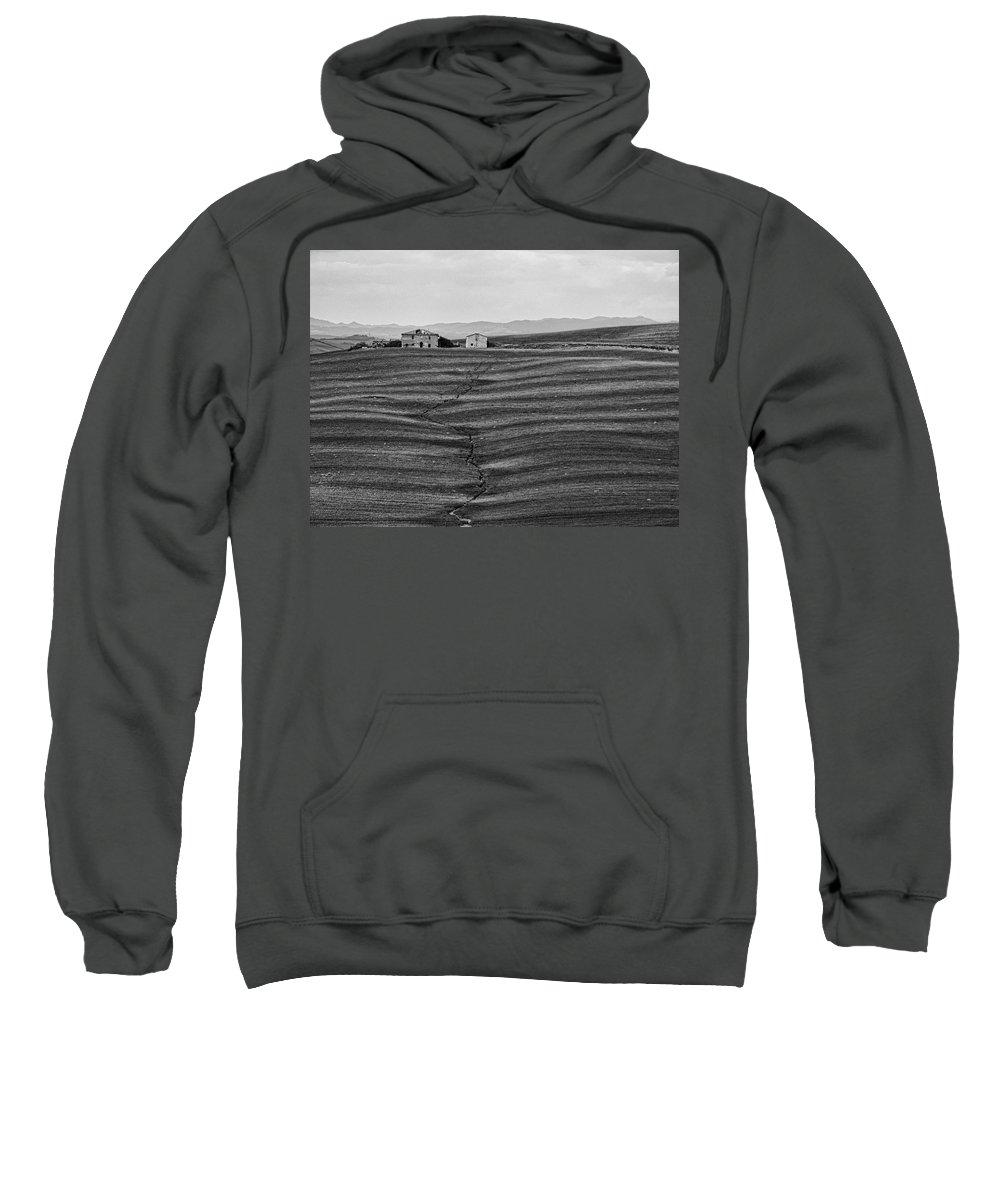 Barn Sweatshirt featuring the photograph Farm Sienna by Hugh Smith