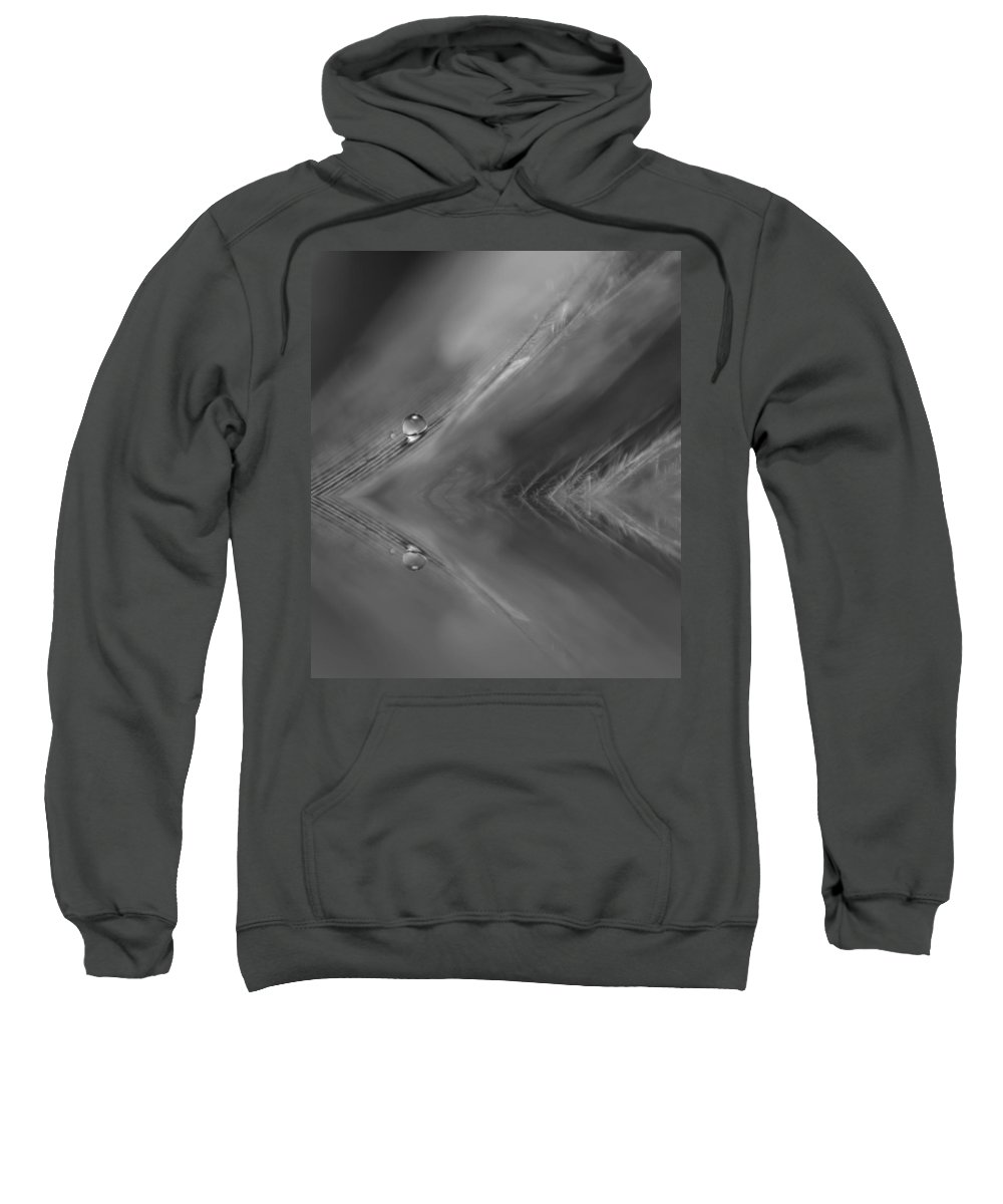 Feather Sweatshirt featuring the photograph Feather Reflections by Lauri Novak
