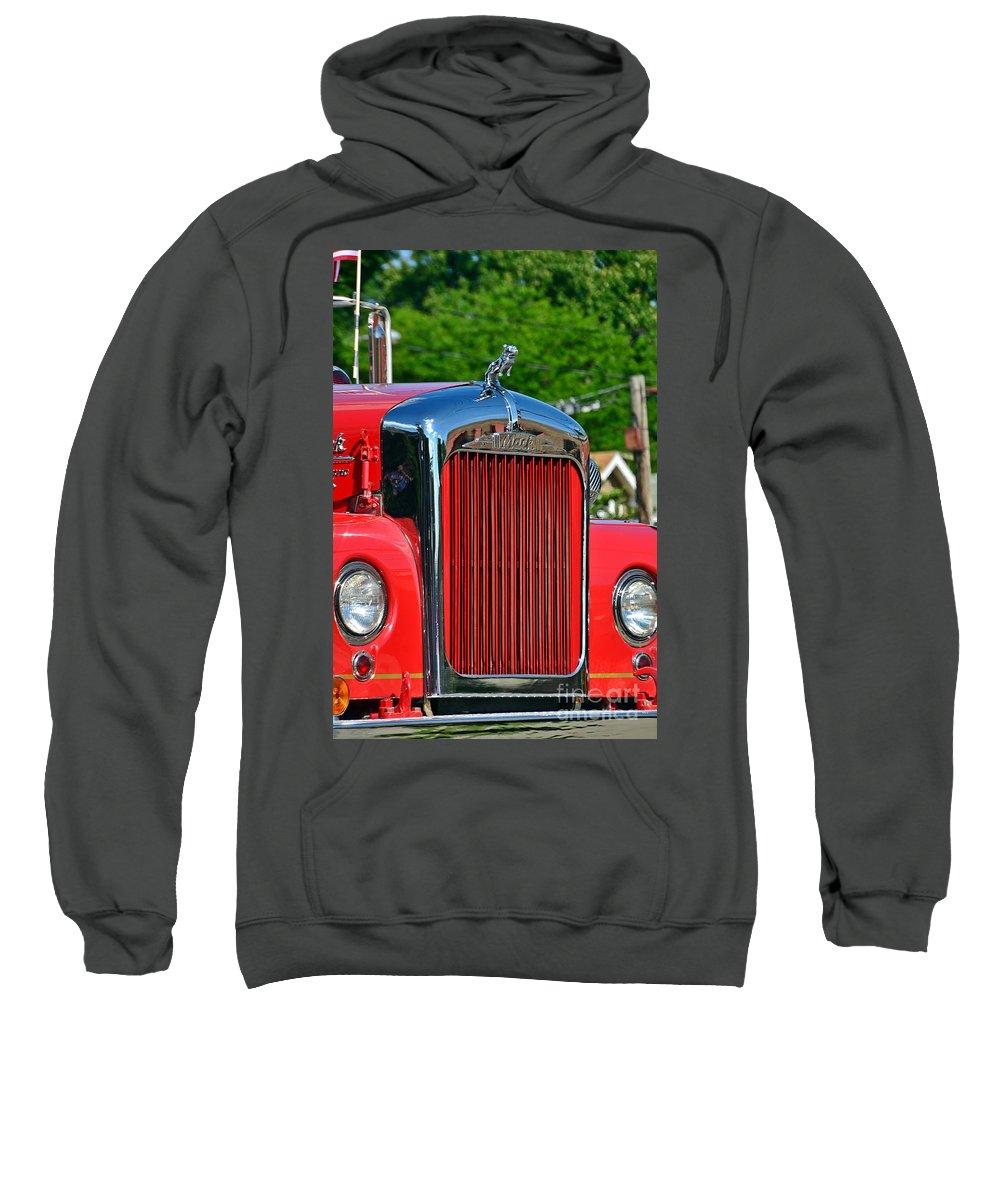 Fire Truck Sweatshirt featuring the photograph Fie Truck by Randy J Heath