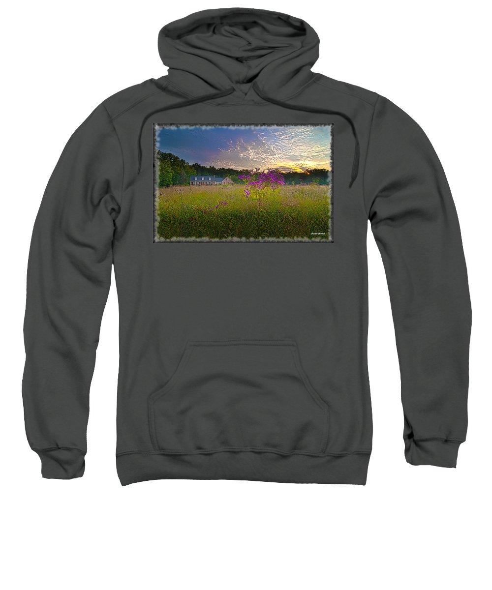 Sweatshirt featuring the photograph Field Of View Sunset by Randall Branham
