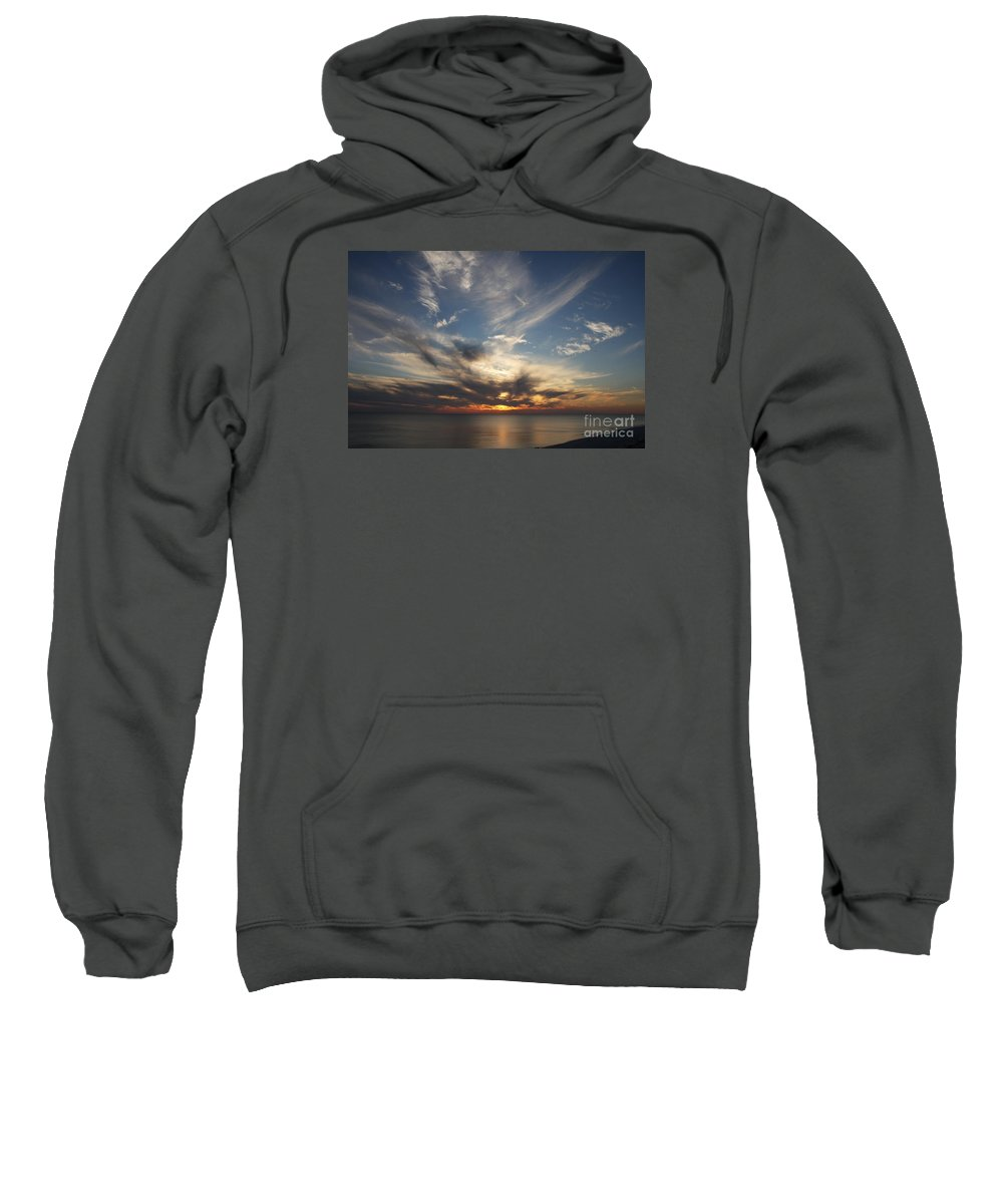 Sunset Sweatshirt featuring the photograph Fiery Sunset Skys by Christiane Schulze Art And Photography