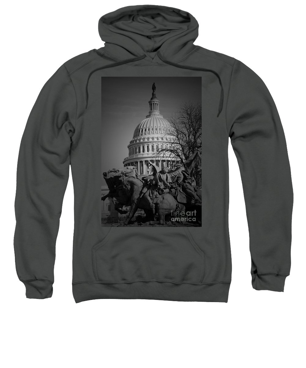 Civil Sweatshirt featuring the photograph Fight In Washington by Jost Houk
