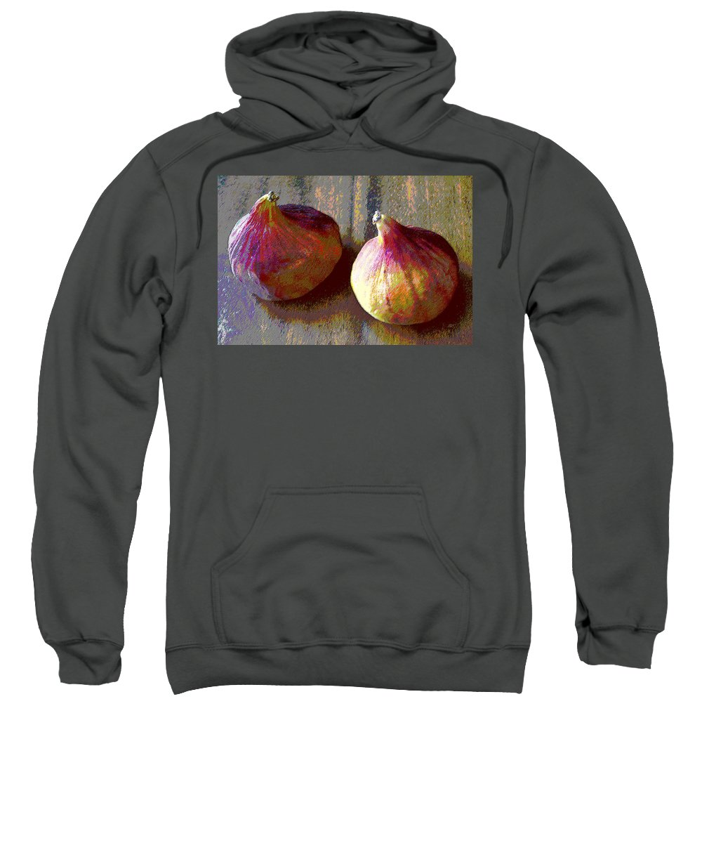 Fruit Sweatshirt featuring the photograph Figs Still Life Pop Art by Ben and Raisa Gertsberg