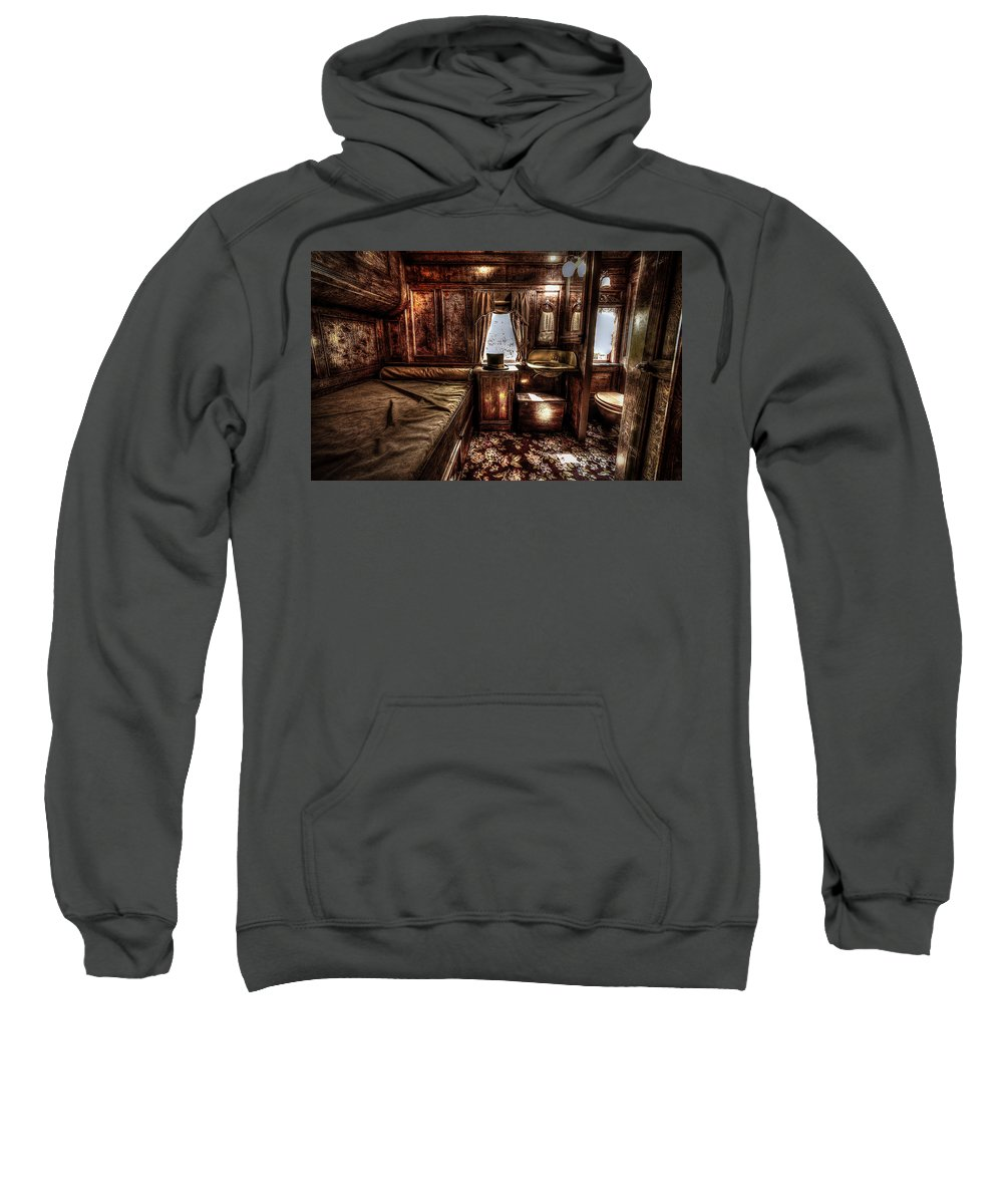 Sleeper Sweatshirt featuring the photograph First Class Sleeper by David Morefield