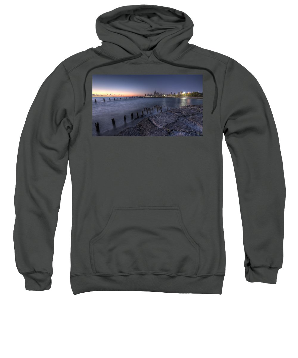 Chicago Sweatshirt featuring the photograph First Hint Of Sunlight by Lindley Johnson