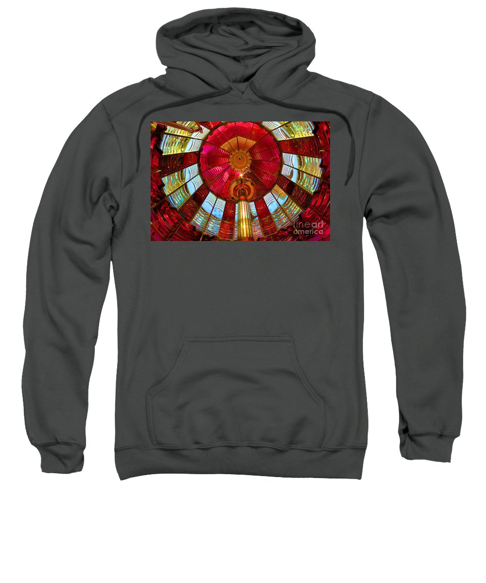 First Order Fresnel Lens Sweatshirt featuring the photograph First Order Fresnel Lens by Adam Jewell