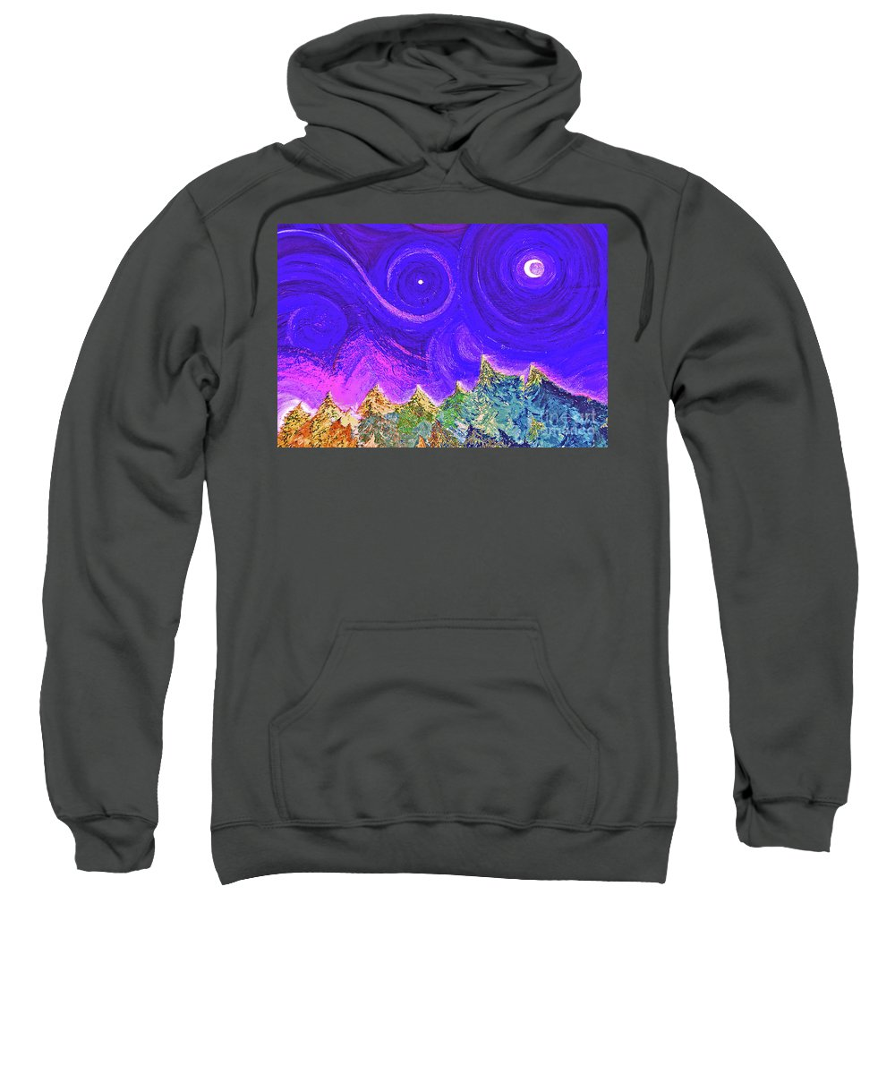 First Star Sweatshirt featuring the painting First Star Sunrise by First Star Art