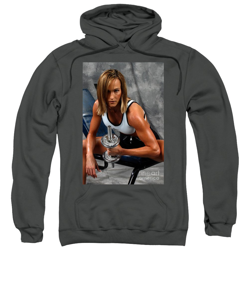 Model Sweatshirt featuring the photograph Fitness 27-2 by Gary Gingrich Galleries
