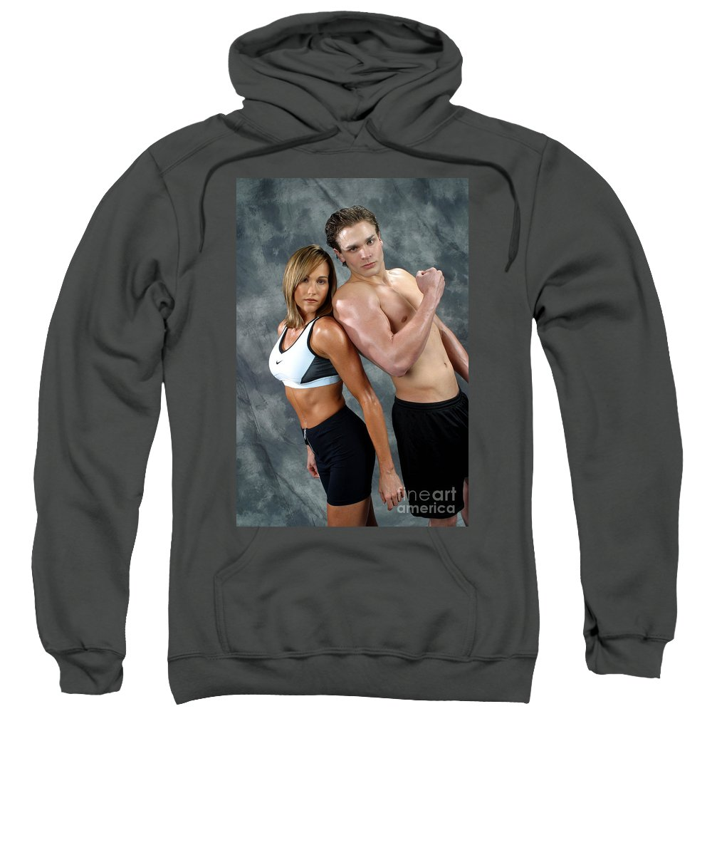 Model Sweatshirt featuring the photograph Fitness Couple 43 by Gary Gingrich Galleries