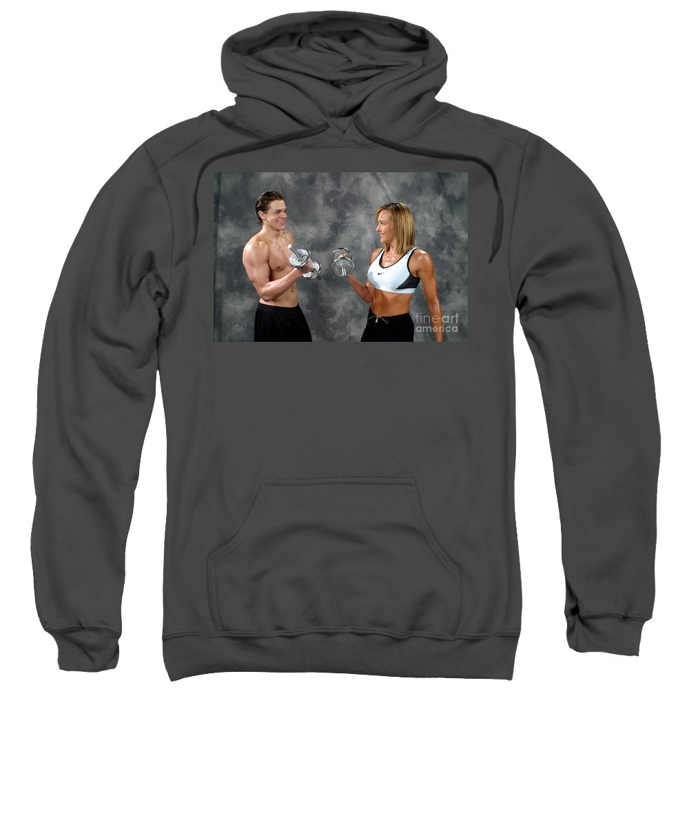 Model Sweatshirt featuring the photograph Fitness Couple 9 by Gary Gingrich Galleries