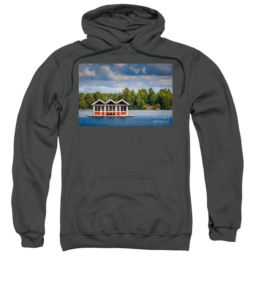Europa Sweatshirt featuring the photograph Floating Shacks by Inge Johnsson