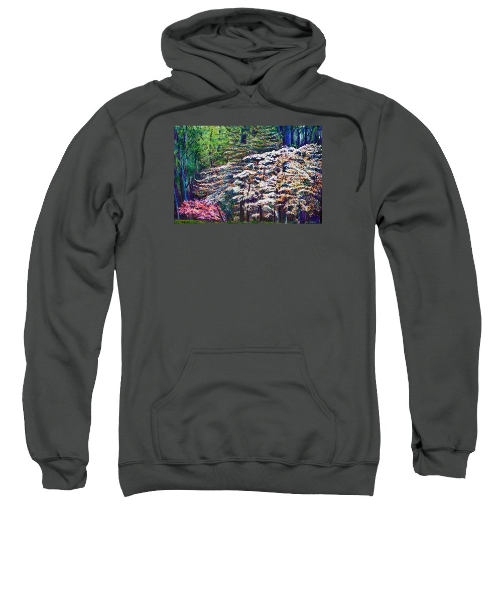 Landscape Sweatshirt featuring the painting Floral Cathedral by Michael Durst