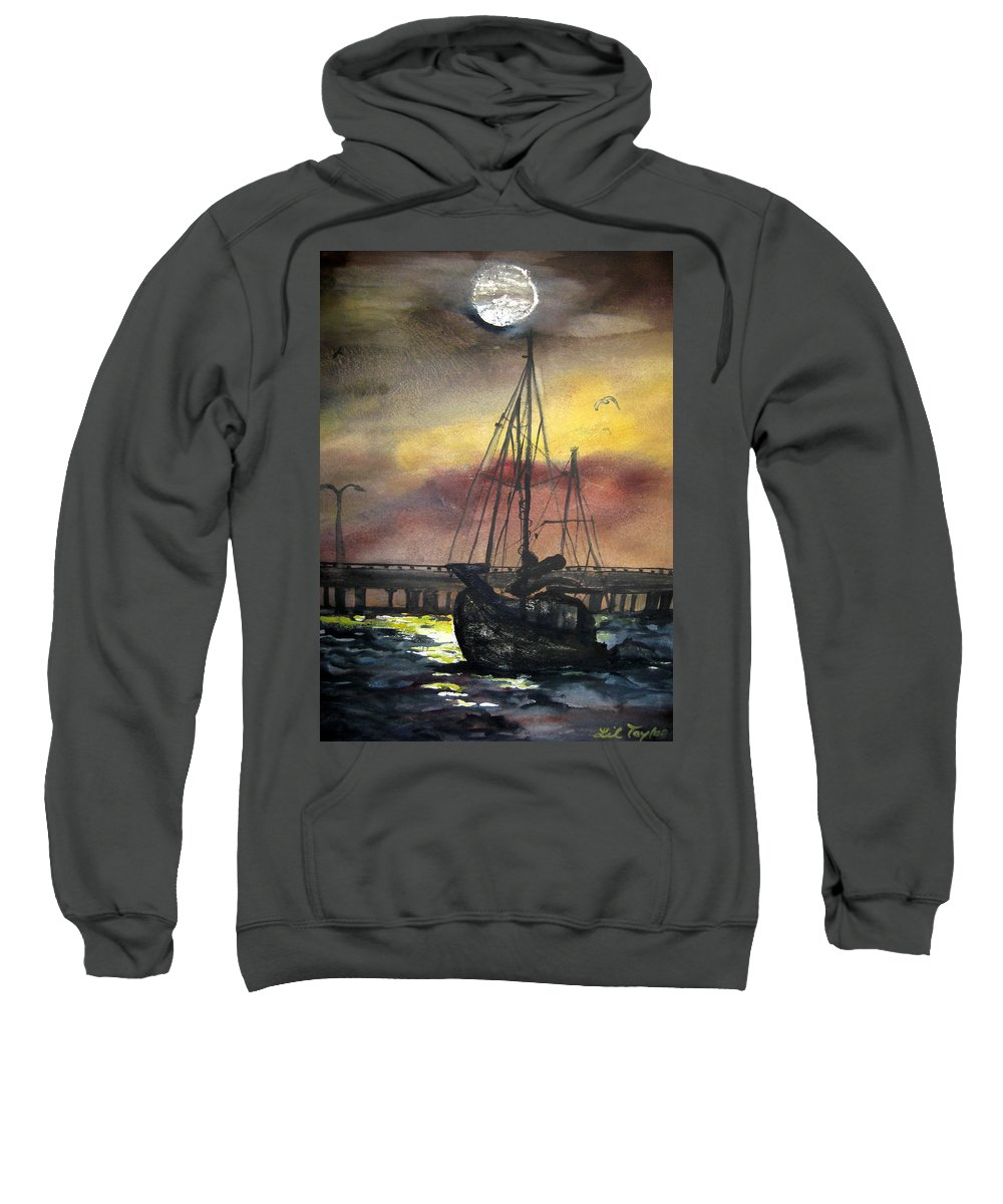 Florida Sweatshirt featuring the painting Florida Sailing by Lil Taylor