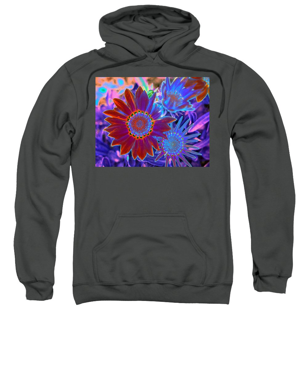 Flower Sweatshirt featuring the photograph Flower Power 1455 by Pamela Critchlow