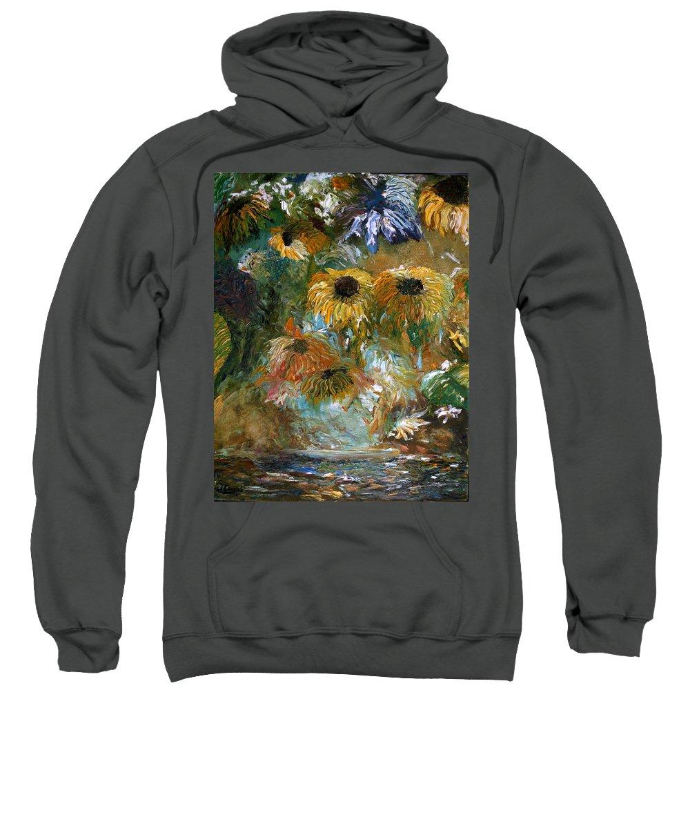 Flowers Sweatshirt featuring the painting Flower Rain by Jack Diamond
