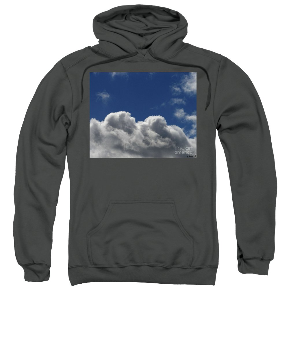 Clouds Sweatshirt featuring the photograph Fluffy Clouds 1 by Carol Lynch