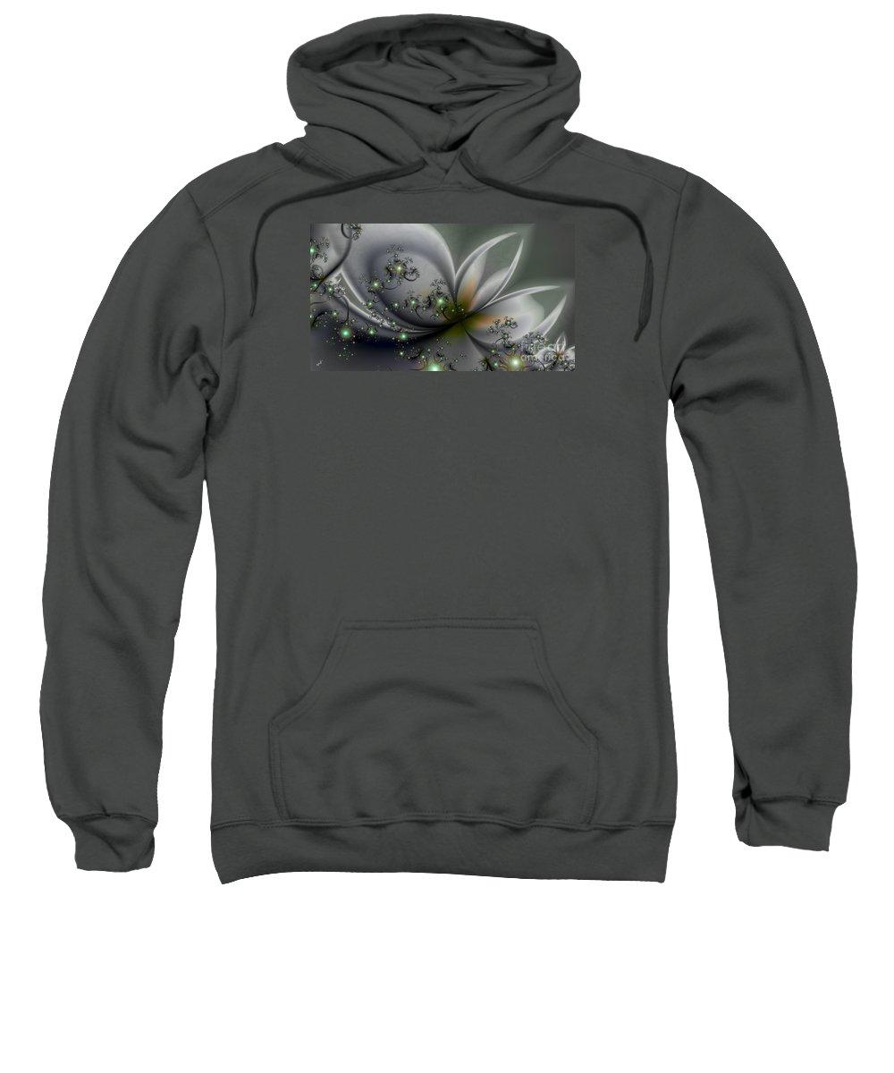 Flutterby Sweatshirt featuring the digital art Flutterby by Kimberly Hansen