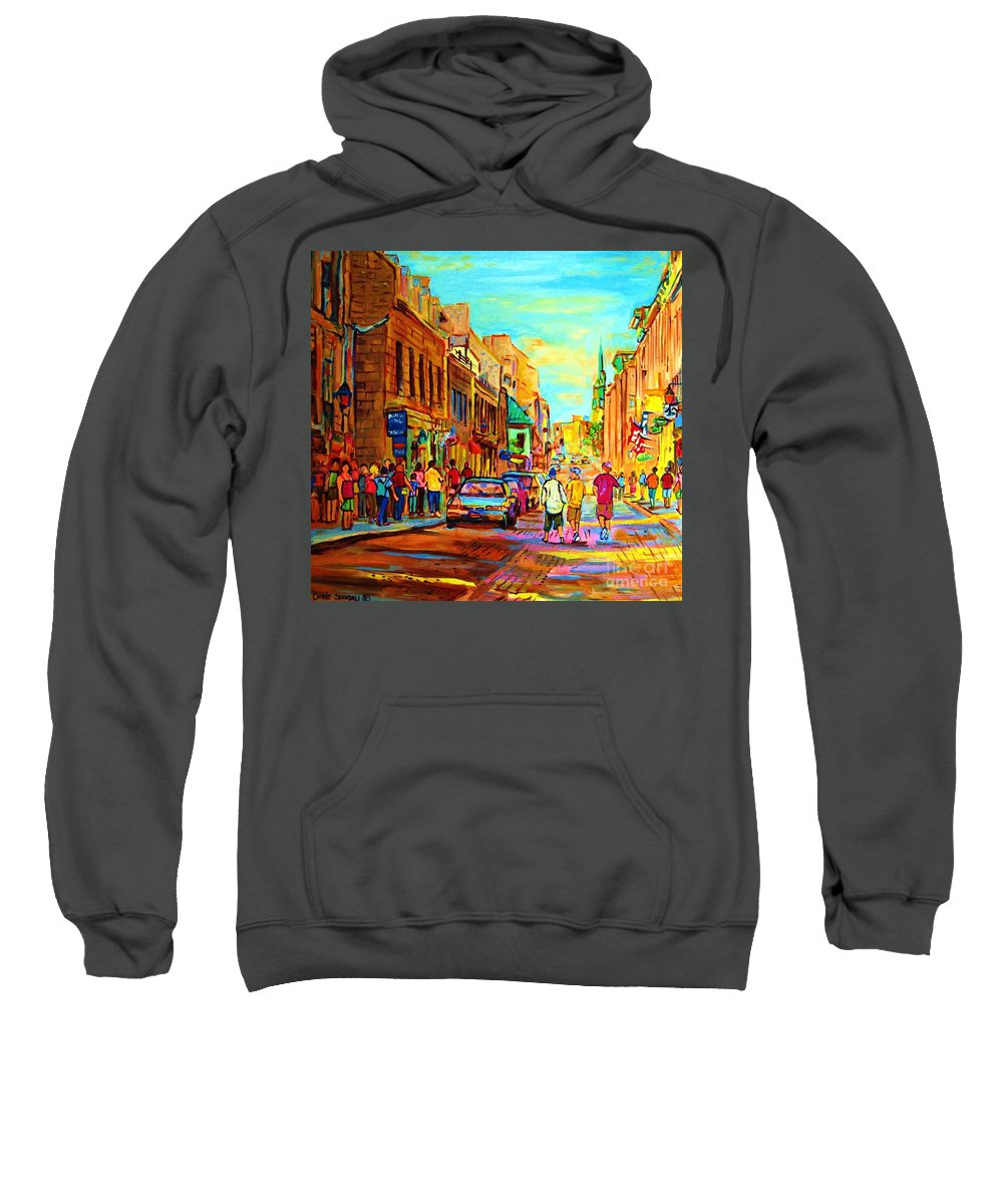 Montreal Sweatshirt featuring the painting Follow The Yellow Brick Road by Carole Spandau