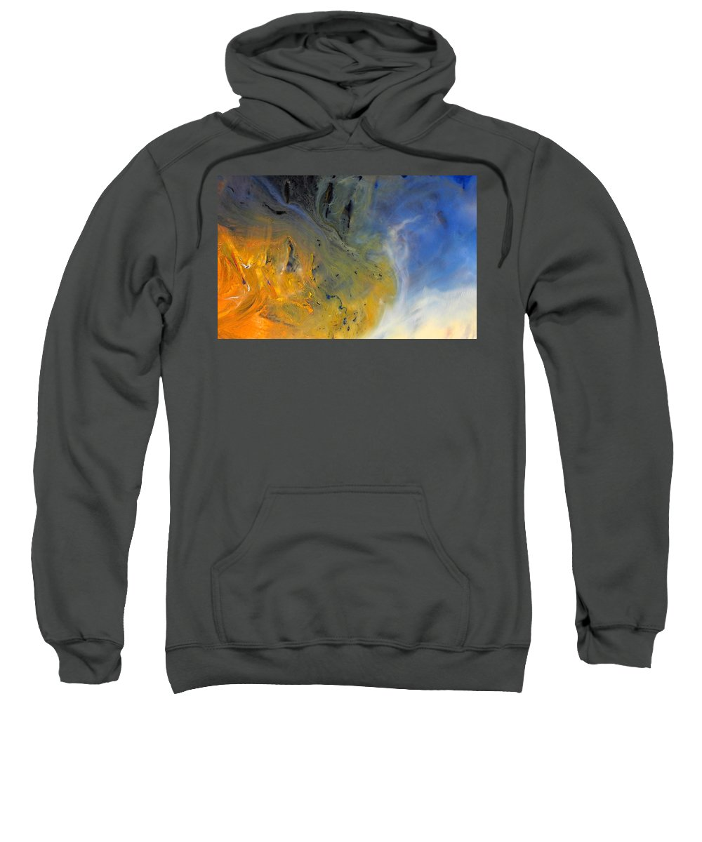 For A Change Sweatshirt featuring the mixed media For A Change by Kume Bryant