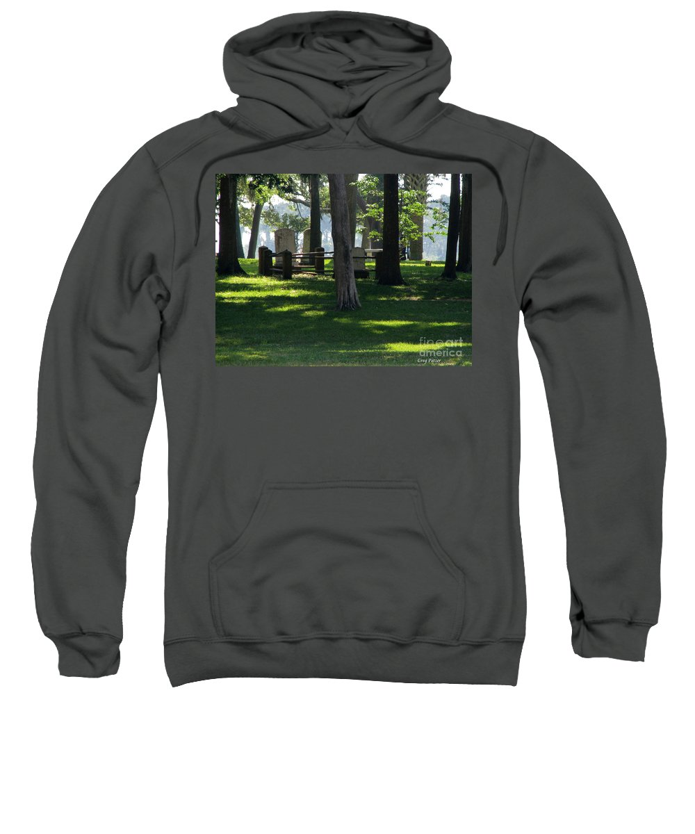 Patzer Sweatshirt featuring the photograph Fore Fathers by Greg Patzer