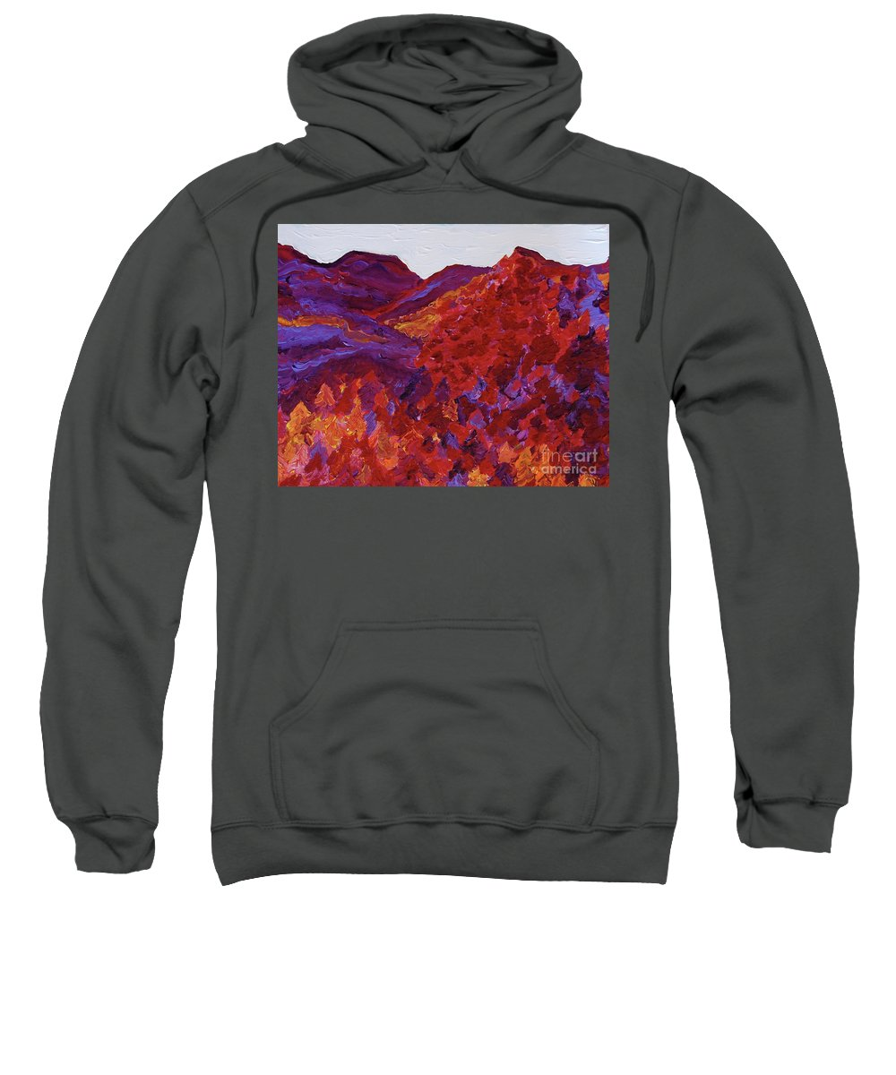 Landscape Sweatshirt featuring the painting Forest Fantasy By Jrr by First Star Art