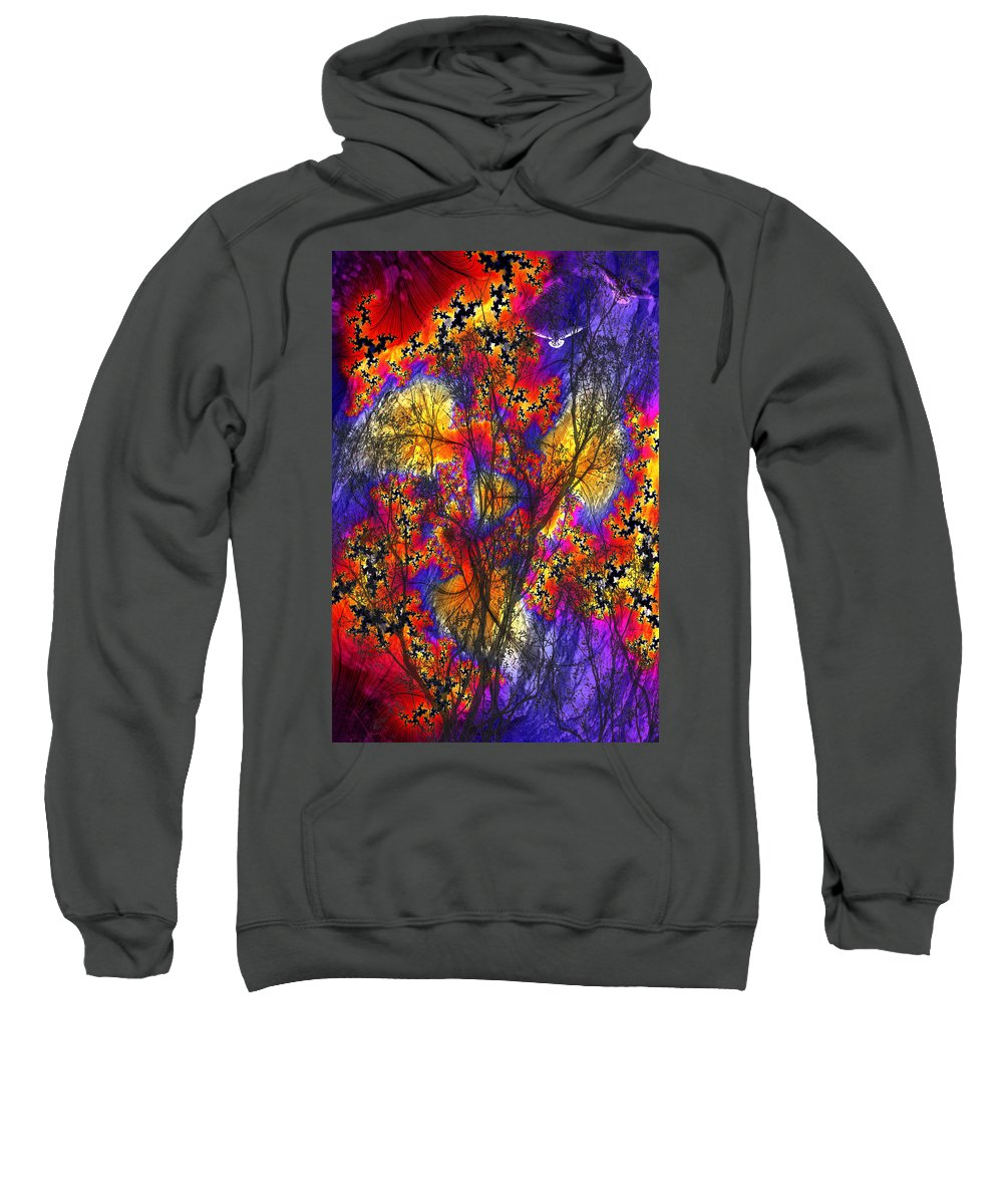 Forest Fire Sweatshirt featuring the digital art Forest Fire by Lisa Yount