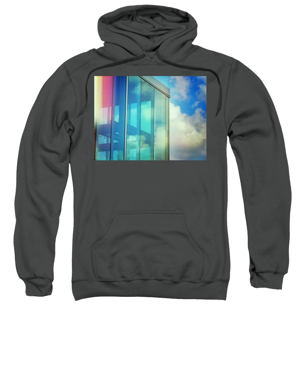 Forever Blue Sweatshirt featuring the photograph Forever Blue by Skip Hunt