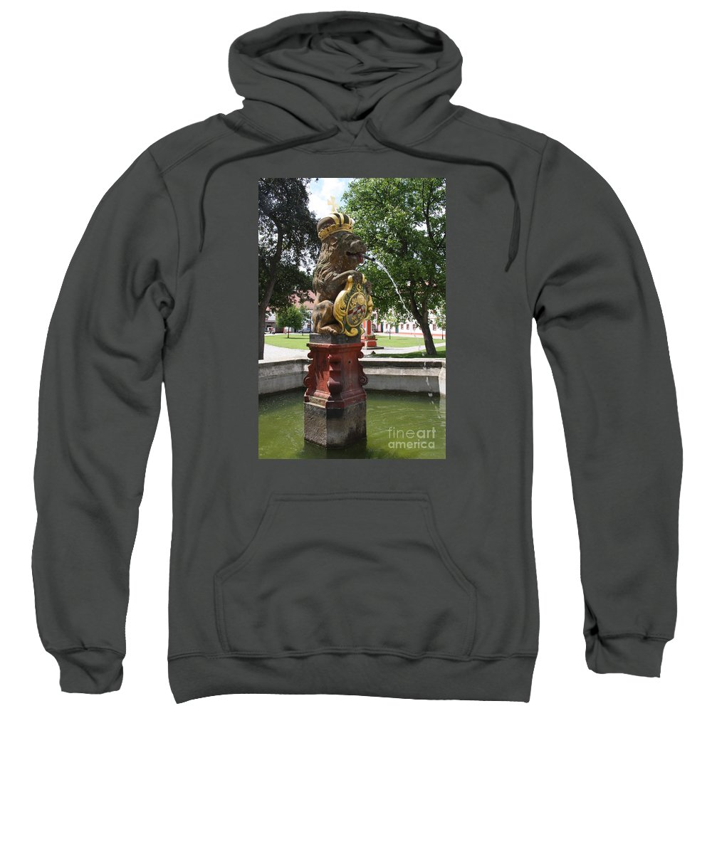 Fountain Sweatshirt featuring the photograph Fountain Cloister St. Marienstern - Germany by Christiane Schulze Art And Photography
