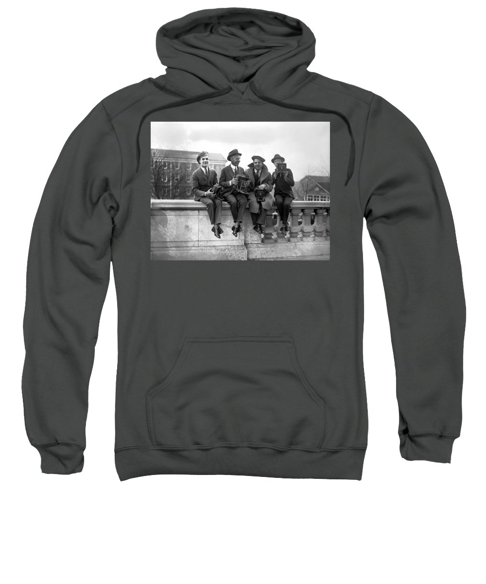 20th Century Sweatshirt featuring the photograph Four Photographers by Granger