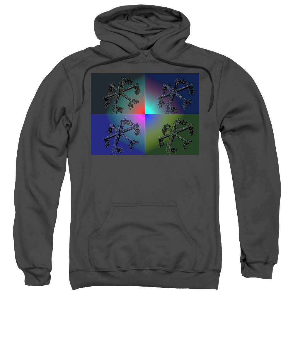 Red Sweatshirt featuring the digital art Four Stars by John Holfinger