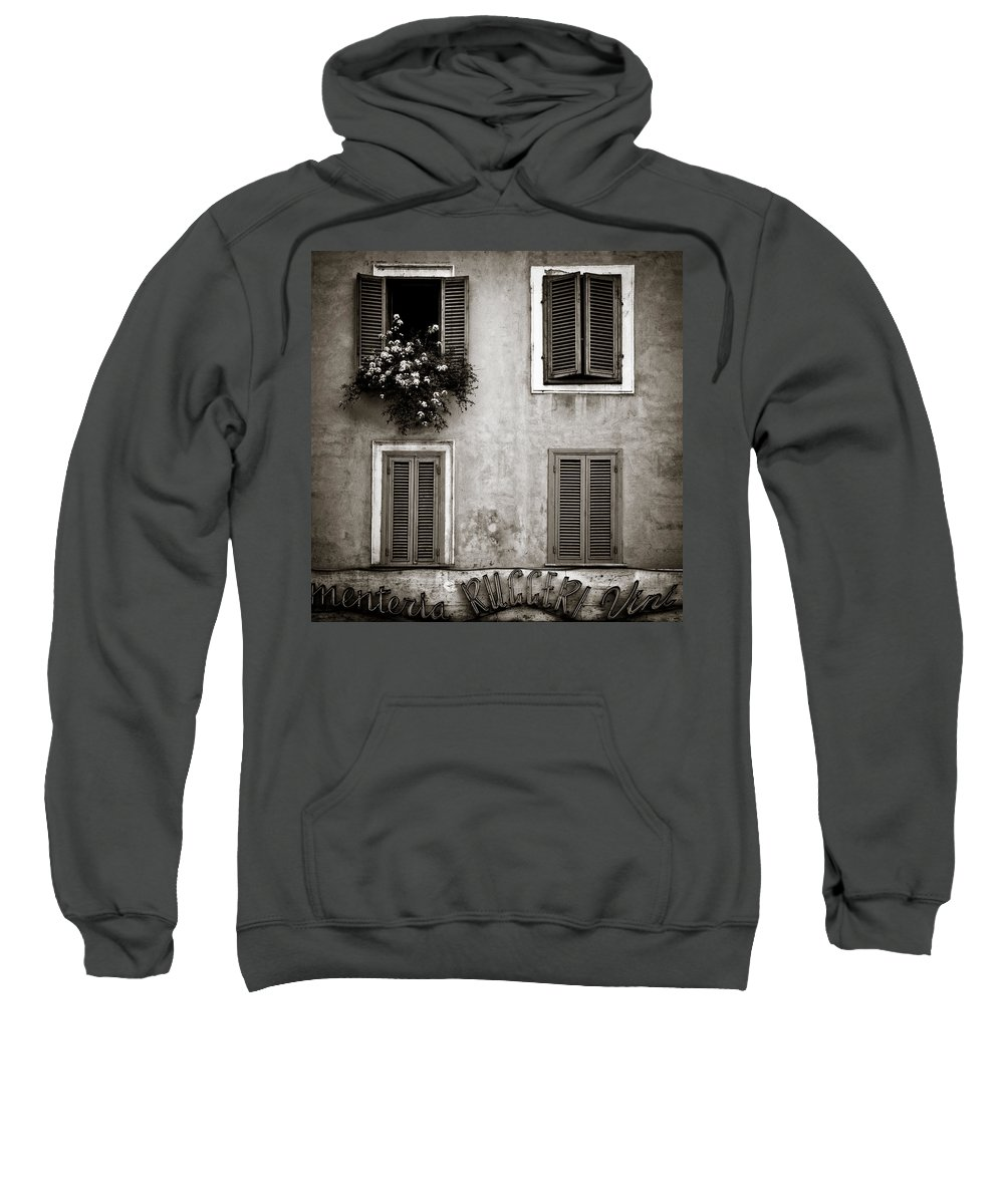 Rome Sweatshirt featuring the photograph Four Windows by Dave Bowman