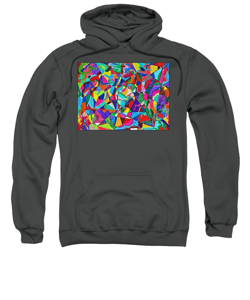 Shapes Sweatshirt featuring the photograph Fractured Kaleidoscope by Catherine Melvin