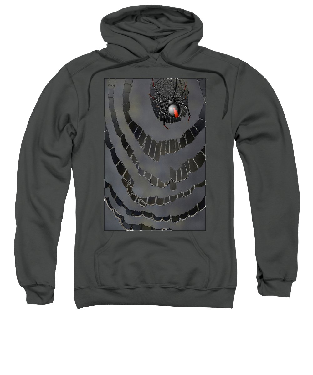 Abstract Sweatshirt featuring the photograph Fractured Web by Linda Dunn