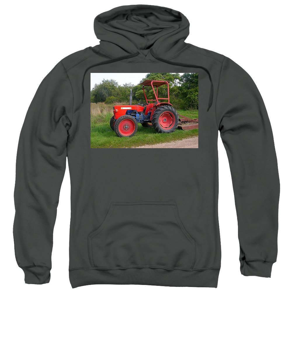 Farm Tractor Sweatshirt featuring the photograph Free Parking by Cynthia Wallentine