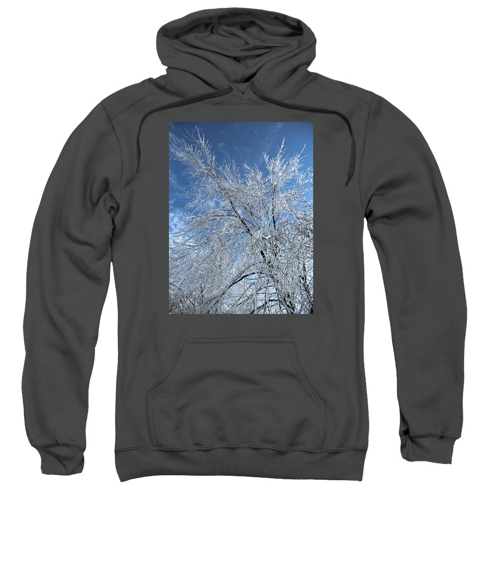 North America Sweatshirt featuring the photograph Freezing Rain ... by Juergen Weiss