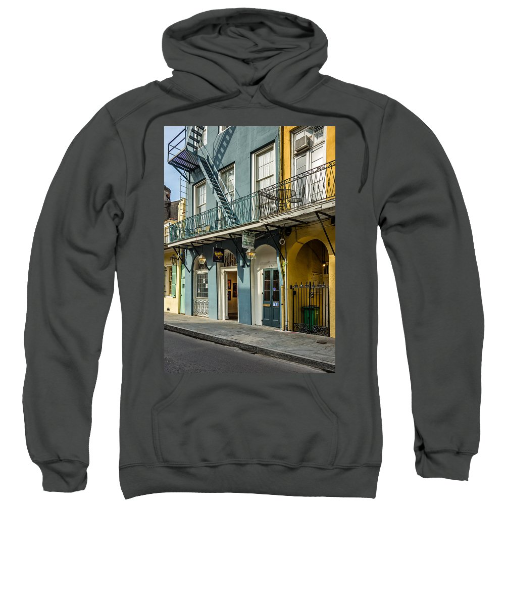 French Quarter Sweatshirt featuring the photograph French Quarter Art And Artistry by Steve Harrington