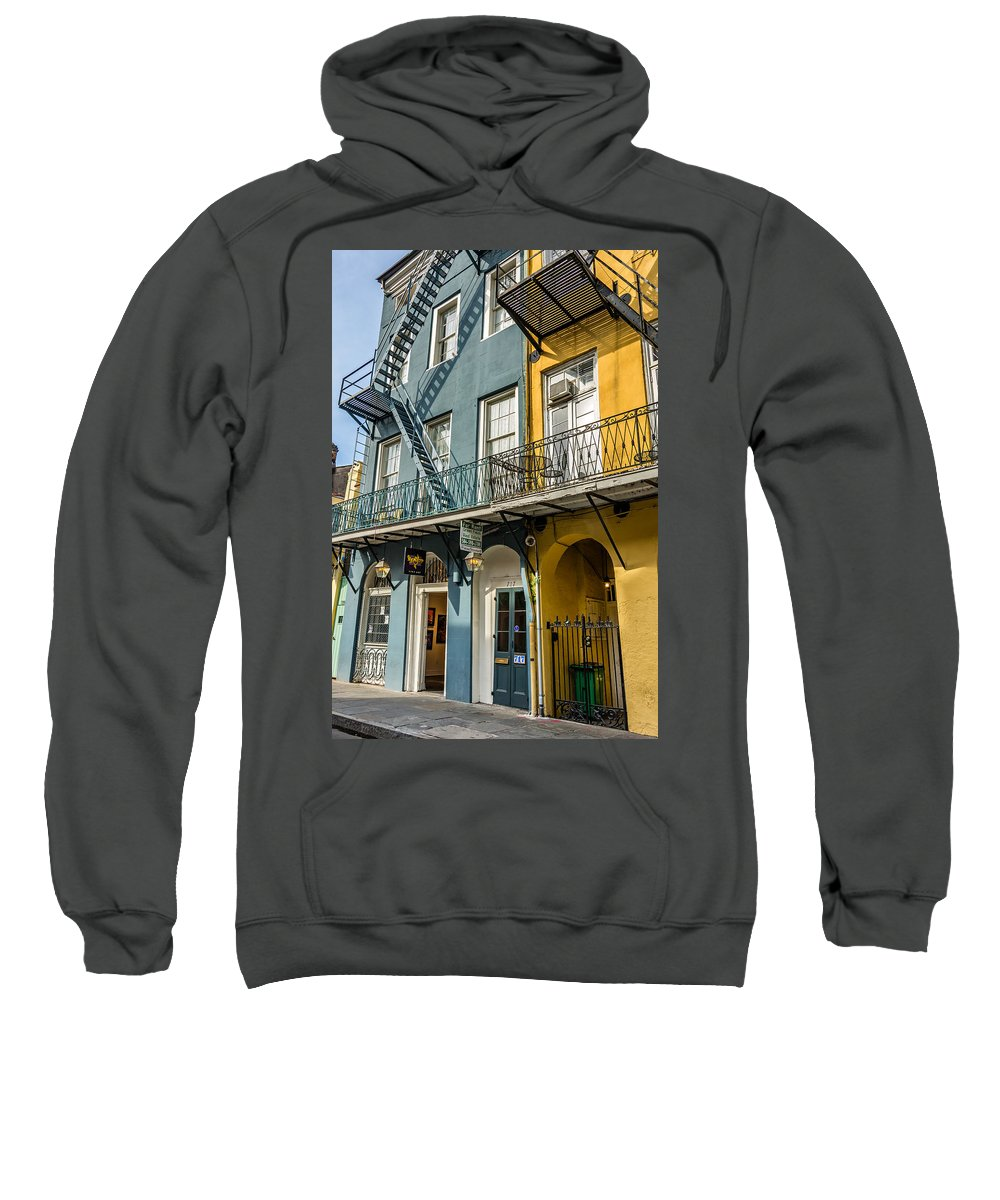 French Quarter Sweatshirt featuring the photograph French Quarter Flair by Steve Harrington