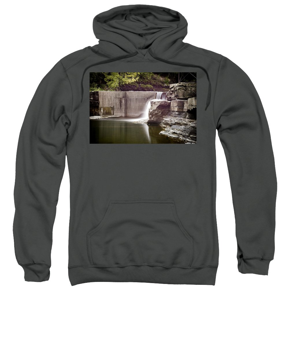Attractive Sweatshirt featuring the photograph Frenchs Hollow Falls by Ray Summers Photography