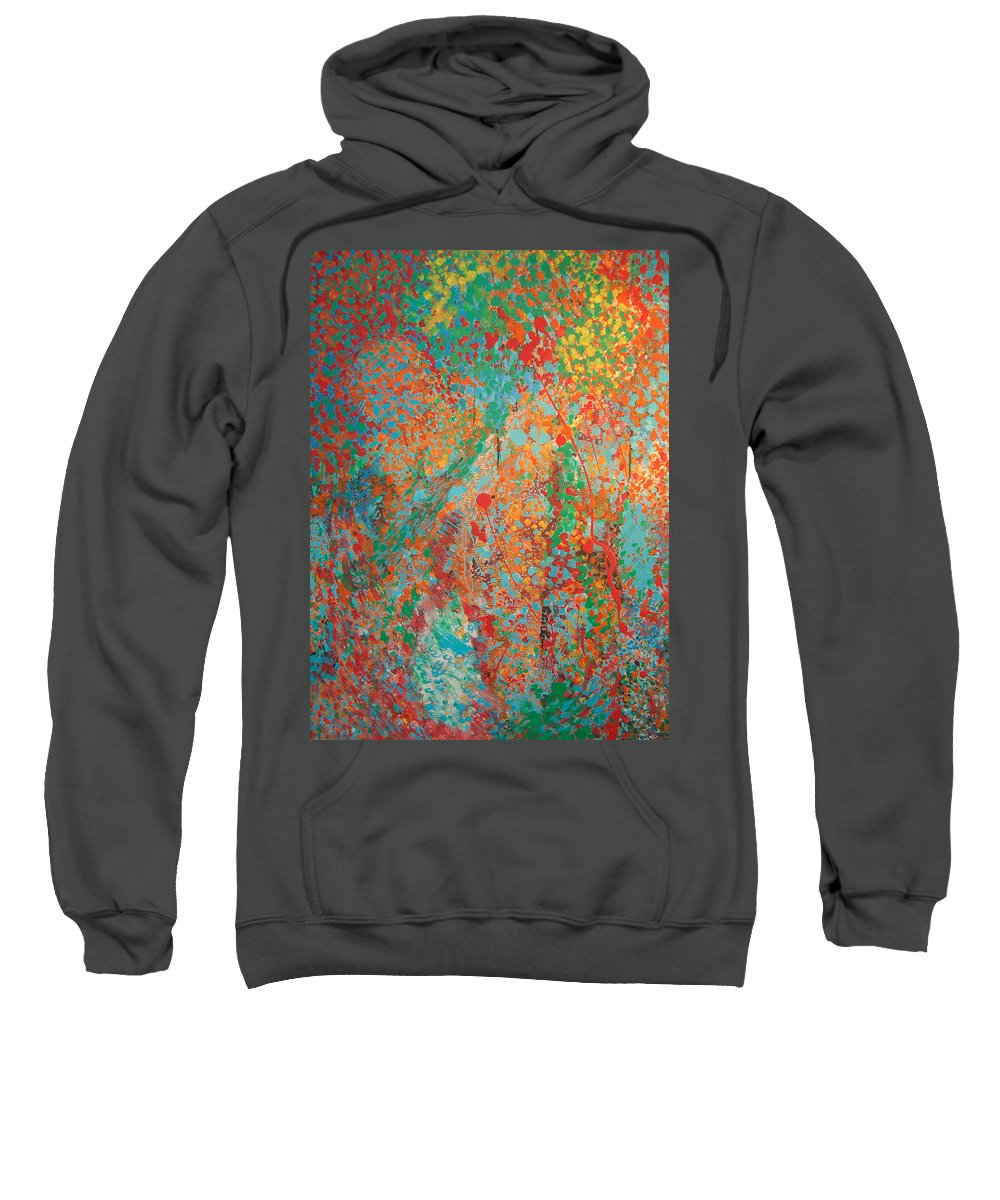 Abstract Sweatshirt featuring the painting Fresh Dots by Gabe Arroyo