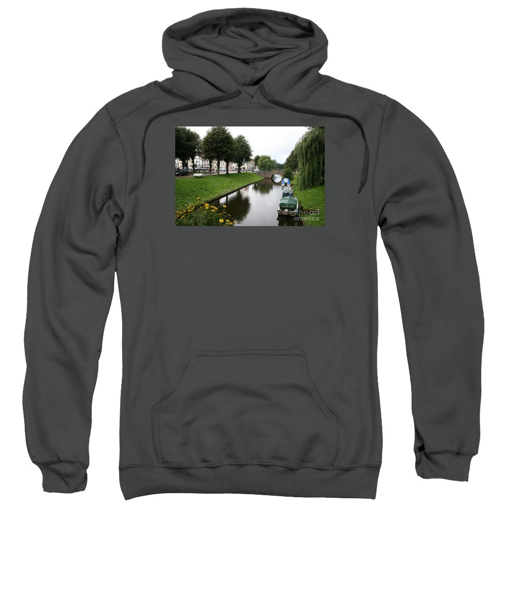 Town Canal Sweatshirt featuring the photograph Friedrichstadt - Germany by Christiane Schulze Art And Photography