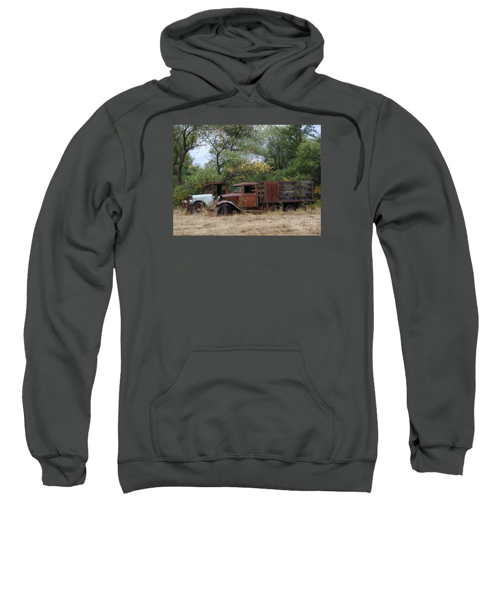Trucks Sweatshirt featuring the photograph Friends To The End by Mary Deal