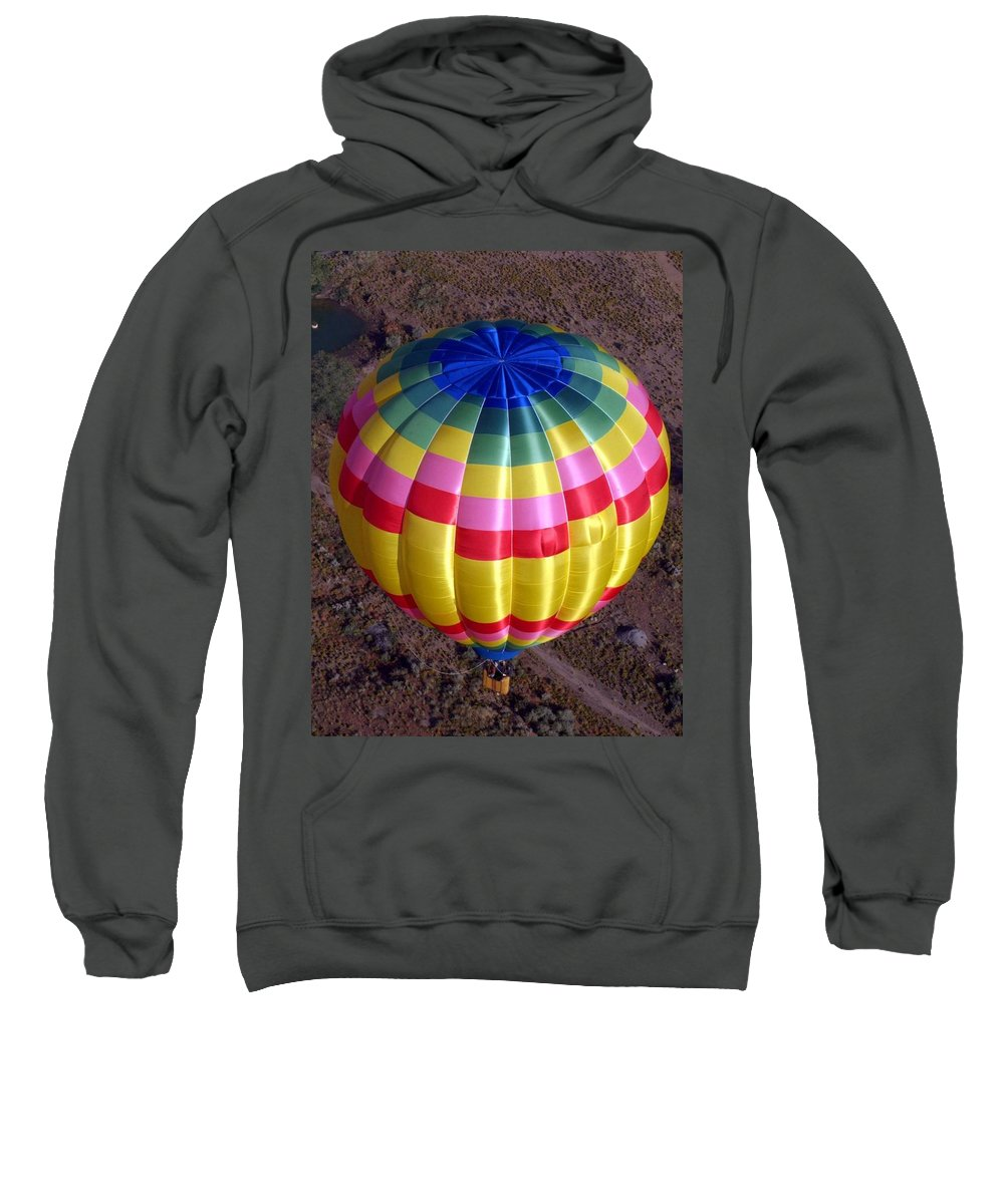 Hot Air Balloon Sweatshirt featuring the photograph From Above by Mary Rogers