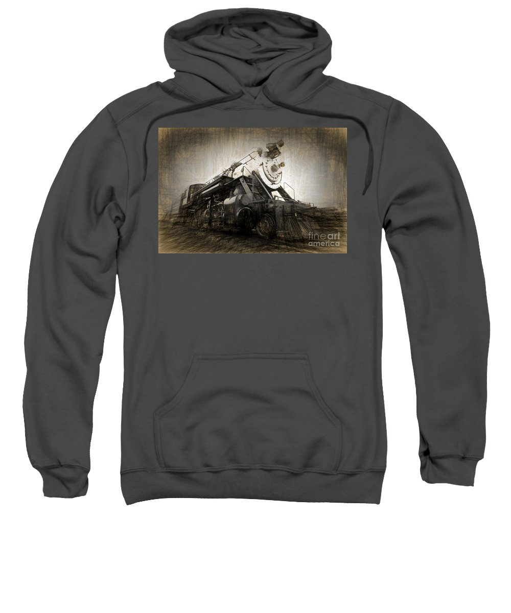 Railroad Sweatshirt featuring the photograph From Out Of The Past by Paul W Faust - Impressions of Light