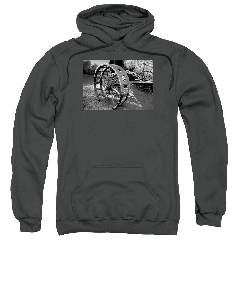 Black Sweatshirt featuring the photograph Frozen In Time by Steven Milner
